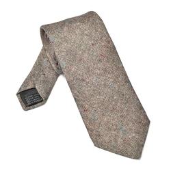 Elegancki krawat beżowy melanż