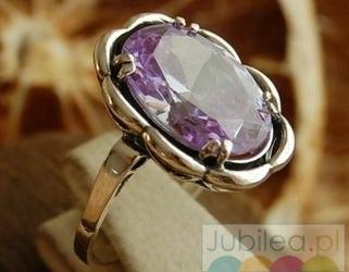 Kadyks - srebrny pierścień z lawenderem