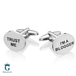 Spinki do mankietów x2 dla blogera