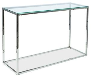 Szklana konsola antoni 2 nowoczesny srebrny