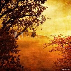 Naklejka samoprzylepna złoty zachód słońca