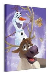 Olafs frozen adventure olaf i sven - obraz na płótnie