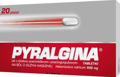 Pyralgina 0,5g x 20 tabletek - 20 tabletek