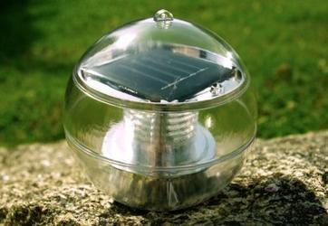Lampa solarna biała led, lampion ogrodowy w kształcie kuli