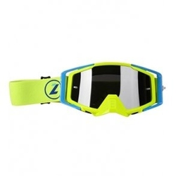 Lazer goggle race style mirror yellow fluo blue y