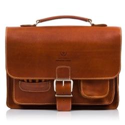 Plecak torba 2w1 skórzany paolo peruzzi s-12 brązowy - brąz
