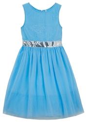 Sukienka dziewczęca na uroczyste okazje bonprix niebieski