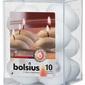 Bolsius, Biała  świeca pływająca, 10 sztuk