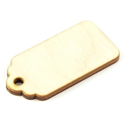 Zawieszka na prezent drewniana 2x5 cm
