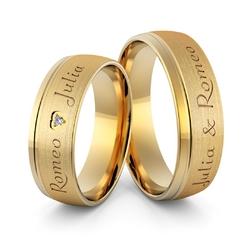 Obrączki ślubne z imionami i sercem - au-989