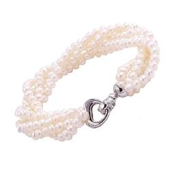 Asami bransoletka z białych pereł