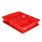 Suszarka do naczyń z ociekaczem na blat kuchenny bentom classic 43 cm czerwona