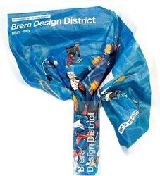 Mapa crumpled city brera design district