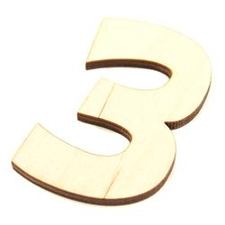 Drewniana cyfra 6 cm - 3 - 3