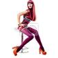 Obraz fashion ubrany sexy dziewczyna siedzi na krześle. portret pełnej długości