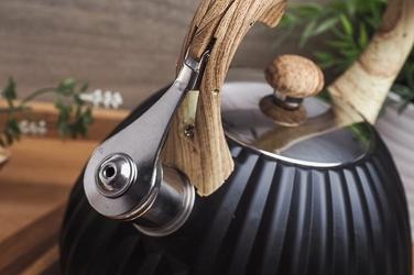 Kinghoff czajnik z gwizdkiem 2.7 l czarny