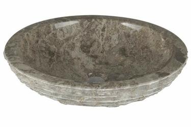 Umywalka nablatowa z marmuru okrągła