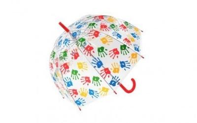 Parasolka przezroczysta dłonie parasol transparentny dłonie
