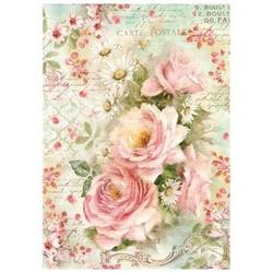 Papier ryżowy Stamperia A4 kwiaty róże