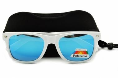 Okulary nerdy polaryzacyjne lustrzane stp18