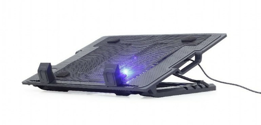 Gembird Podstawka pod laptop 17 + wentylator