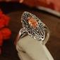 Onda - srebrny pierścionek z topazem złocistym