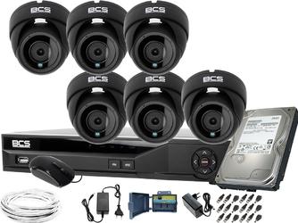 Obserwacja monitoring domu posesji 6x bcs-dmqe2500ir3-g rejestrator bcs-xvr08014ke-ii 1tb
