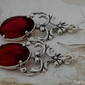 Ravena - srebrne kolczyki z rubinem