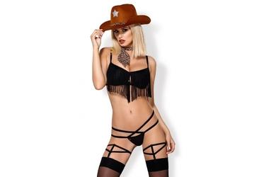 832-cst-1 kowbojka kostium z frędzlami i kapeluszem obsessive