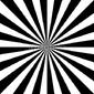 Naklejka samoprzylepna czarno-biały obrót streszczenie