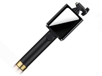 Monopod selfie stick z lusterkiem do zdjęć - złoty