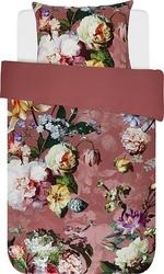 Pościel fleur ciemnoróżowa 140 x 220 cm z poszewką na poduszkę 60 x 70 cm