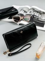 Duży portfel damski czarny milano design - czarny