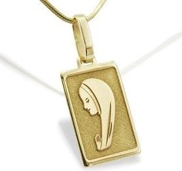 Medalik z żółtego złota med-1-3 - ok. 13,8 mm x 5,8 mm