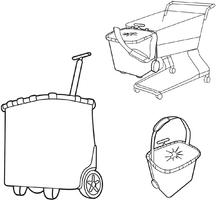 Wózek na zakupy reisenthel carrycruiser spots navy roe4044