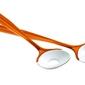 Komplet łyżek do sałatek mirage, pomarańczowy - pomarańczowy