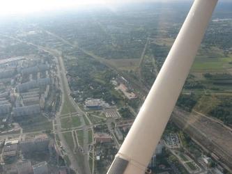 Lot zapoznawczy samolotem - łódź - lot vip - miejsce drugiego pilota