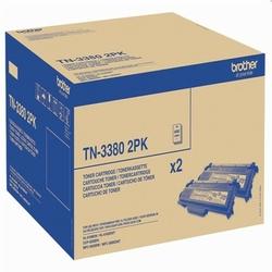 Tonery Oryginalne Brother TN-3380 TN3380TWIN Czarne dwupak - DARMOWA DOSTAWA w 24h