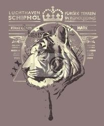 Plakat tiger król