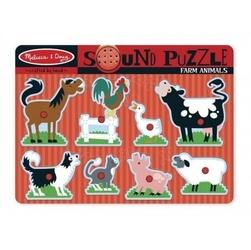 Puzzle dźwiękowe - zwierzęta z farmy
