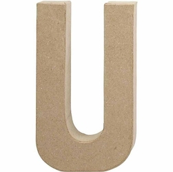 Litera z papier mache 20,5x2,5 cm - U - U