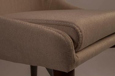 Dutchbone :: krzesło tapicerowane juju beżowe