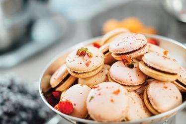 Pink macarons - plakat