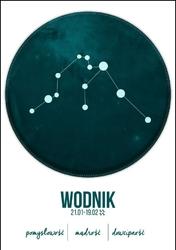 Znak zodiaku, Wodnik - plakat Wymiar do wyboru: 42x59,4 cm