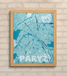 Paryż - błękitna mapa