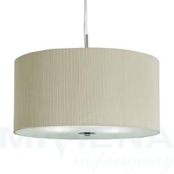 Drum pleat lampa wisząca 60 kremowy