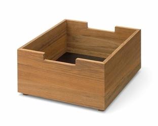 Pudło Cutter drewno tekowe małe
