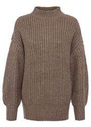 Sweter bonprix szarobrązowy