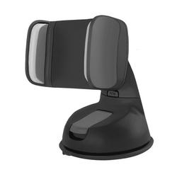Qoltec uchwyt samochodowy na szybę do smartfona 2 - 6. | czarny