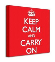 Keep calm and carry on red - obraz na płótnie